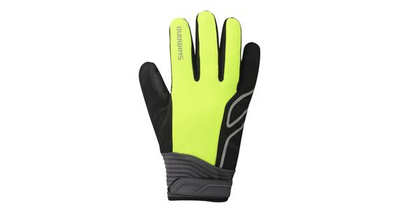 Shimano High-Visible Handschuhe Unisex neon gelb
